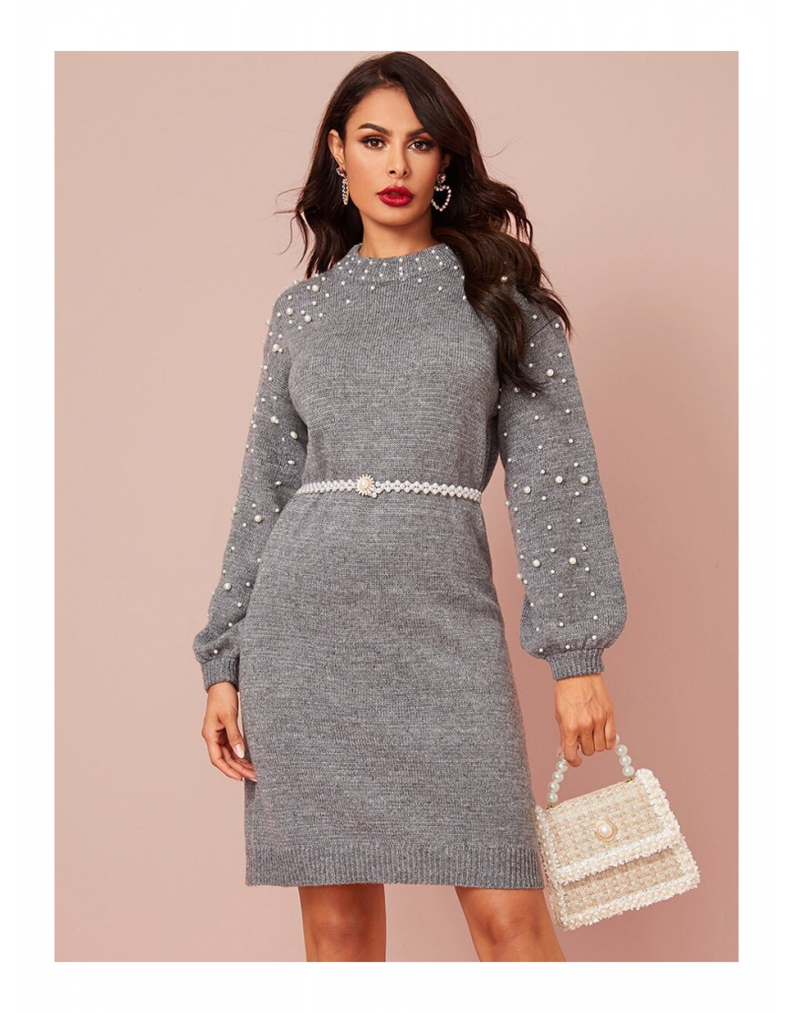Pearl Beaded Jumper Dress